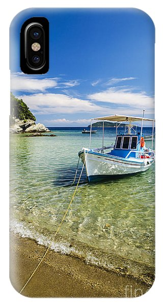 Greece iPhone Case - Colorful Boat by Jelena Jovanovic