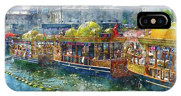 Colorful Boats In Istanbul Turkey IPhone Case