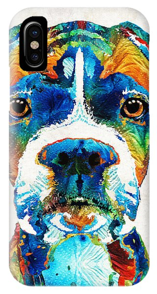 Colorful Boxer Dog Art By Sharon Cummings  IPhone Case