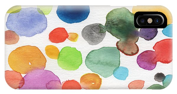 Lavender iPhone Case - Colorful Bubbles by Linda Woods