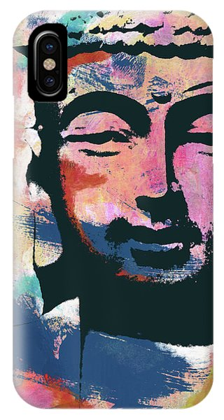 Contemporary iPhone Case - Colorful Buddha 2- Art By Linda Woods by Linda Woods