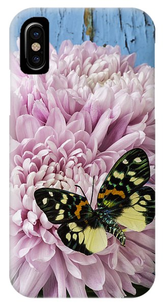 Colorful Butterfly On Pink Mum IPhone Case