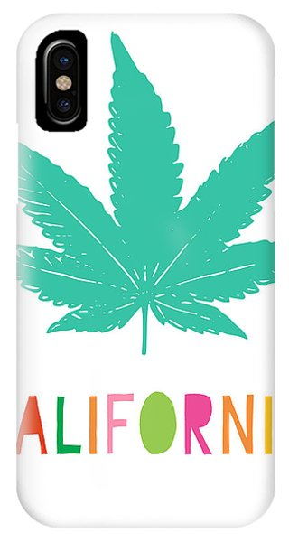 Wood iPhone Case - Colorful California Cannabis- Art By Linda Woods by Linda Woods