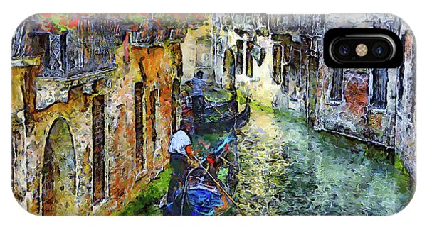 Colorful Canal In Venice IPhone Case