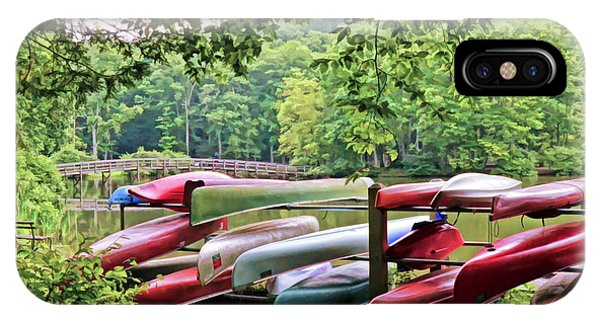 Colorful Canoes At Hungry Mother State Park IPhone Case