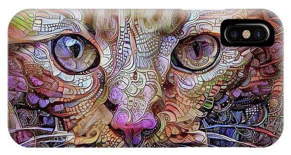 Colorful Cat Art IPhone Case