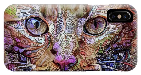 Colorful Cat Art IPhone Case