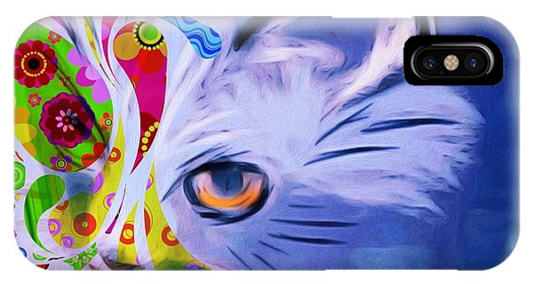 Colorful Cat World IPhone Case