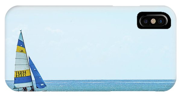 Colorful Catamaran 3 Delray Beach Florida IPhone Case