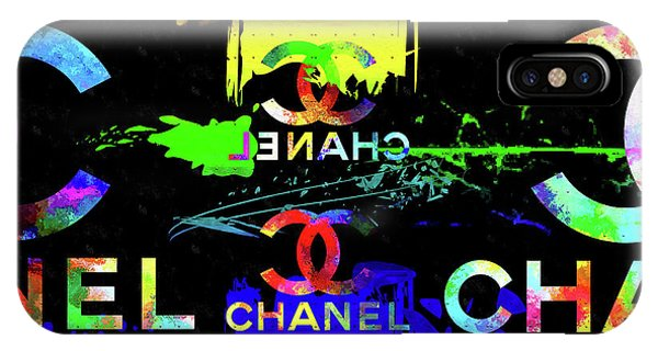 French iPhone Case - Colorful Chanel Art by Daniel Janda