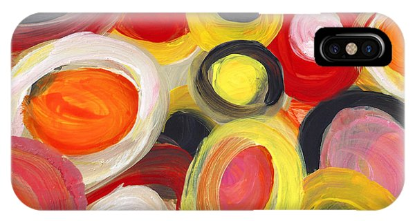 Colorful Circles In Motion Square 3 IPhone Case