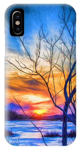 Colorful Cold Sunset IPhone Case