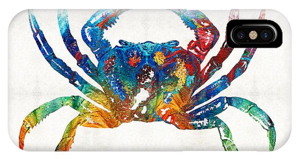 Primary Colors iPhone Case - Colorful Crab Art By Sharon Cummings by Sharon Cummings