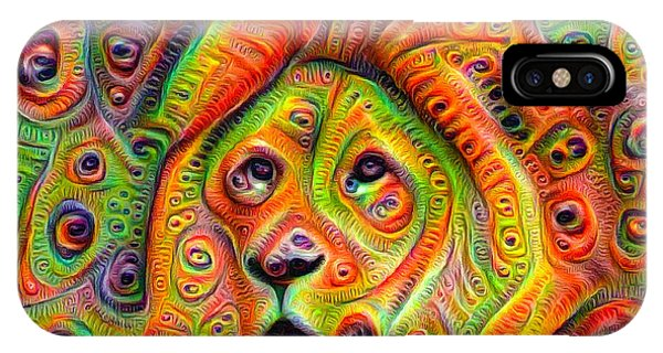 Colorful Crazy Lion Deep Dream IPhone Case