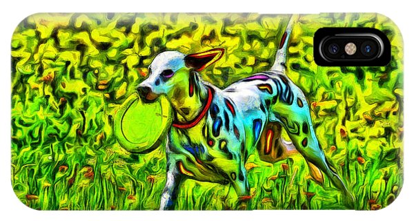 Eyes iPhone Case - Colorful Dalmatian 1100 - Pa by Leonardo Digenio