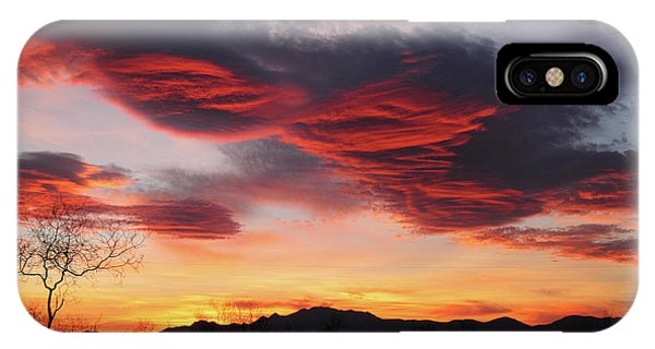 Colorful Dawn Over New Mexico's Peloncillo Mountains IPhone Case