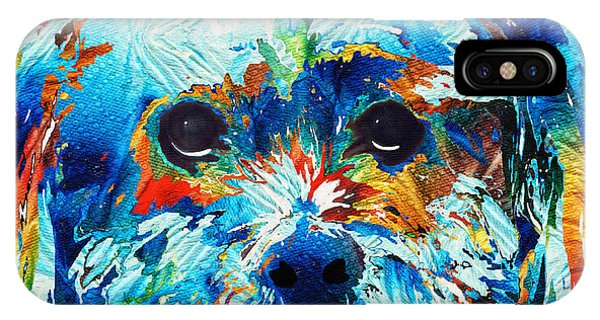 Pup iPhone Case - Colorful Dog Art - Lhasa Love - By Sharon Cummings by Sharon Cummings
