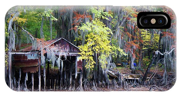 Bald Cypress iPhone Case - Colorful Drought by Lana Trussell