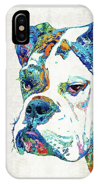 Colorful English Bulldog Art By Sharon Cummings IPhone Case