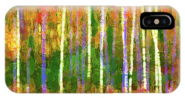 Colorful Forest Abstract IPhone Case