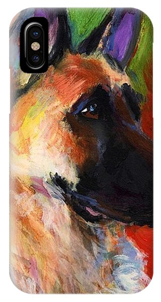 iPhone Case - Colorful German Shepherd Painting By by Svetlana Novikova