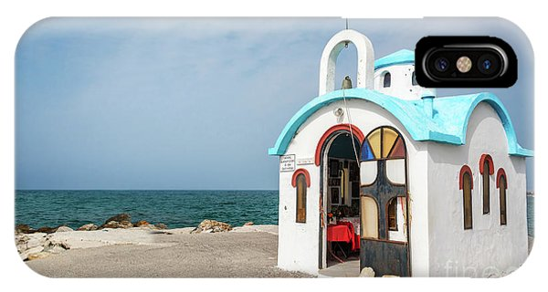 Chapel iPhone Case - Colorful Greek Chapel by Delphimages Photo Creations