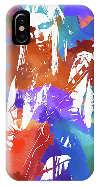 iPhone Case - Colorful Gregg Allman by Dan Sproul