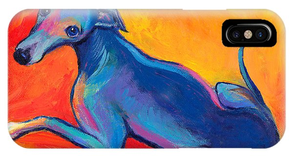 Colorful Greyhound Whippet Dog Painting IPhone Case