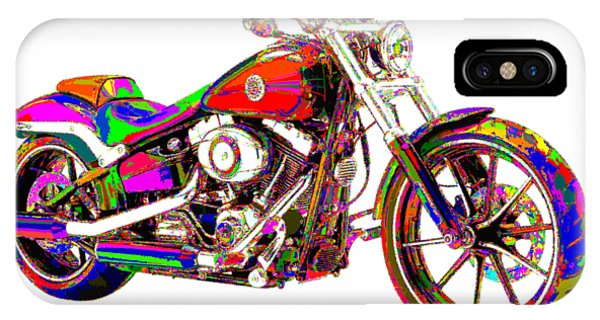 Colorful Harley-davidson Breakout IPhone Case