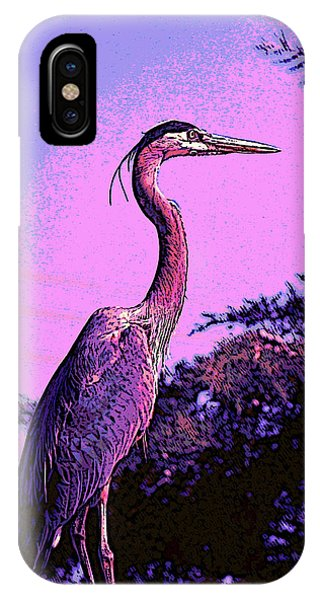 Colorful Heron IPhone Case