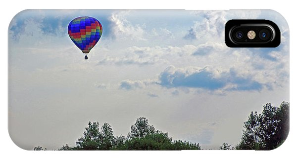 IPhone Case featuring the photograph Colorful Hot Air Balloon by Angela Murdock