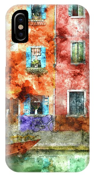 Colorful Houses In Burano Island, Venice IPhone Case