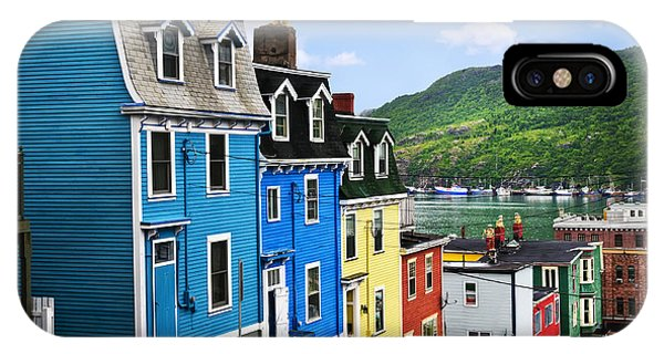 Primary Colors iPhone Case - Colorful Houses In St. John's by Elena Elisseeva