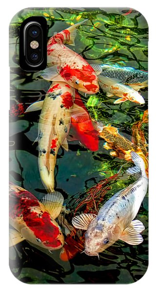 Colorful  Japanese Koi Fish IPhone Case