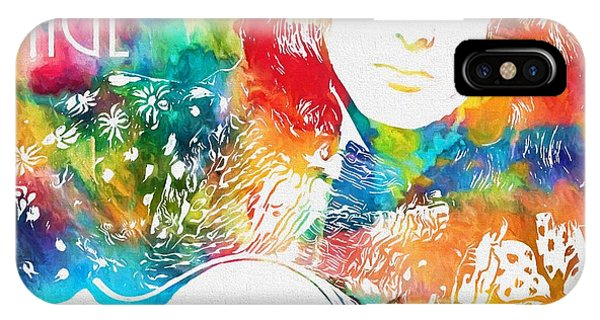 Rock And Roll Jimmy Page iPhone Case - Colorful Jimmy Page by Dan Sproul
