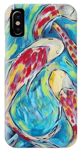 iPhone Case - Colorful Koi Fish #2 by Arrin Burgand