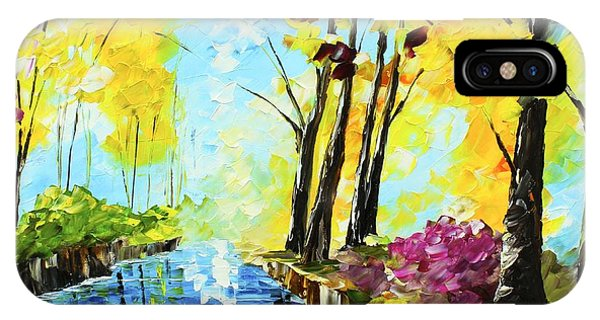 IPhone Case featuring the painting Colorful Landscape by Kevin  Brown