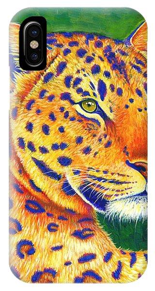 Colorful Leopard Portrait IPhone Case