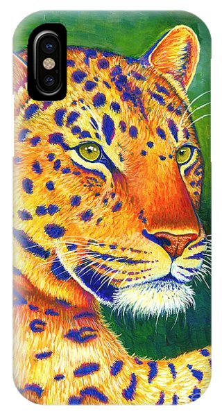 Colorful Leopard Portrait IPhone Case