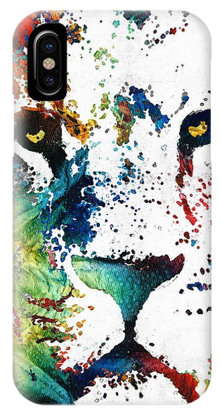 Primary Colors iPhone Case - Colorful Lion Art By Sharon Cummings by Sharon Cummings