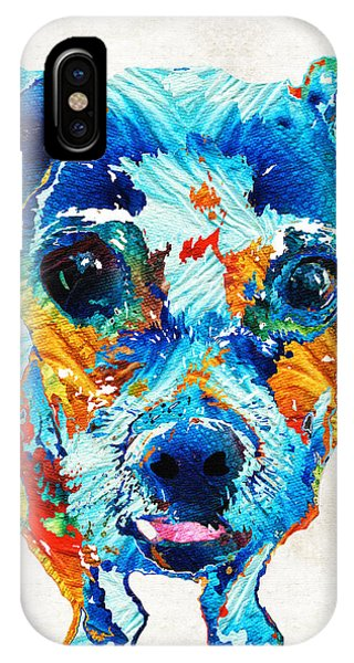 Pup iPhone Case - Colorful Little Dog Pop Art By Sharon Cummings by Sharon Cummings