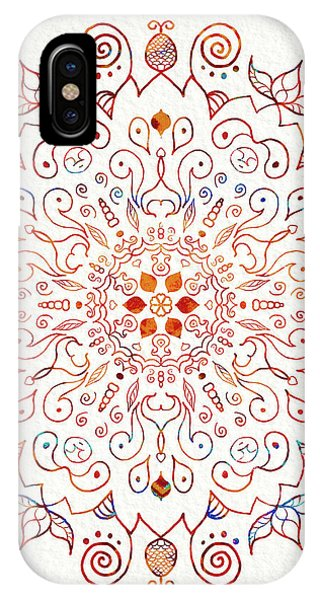 Colorful Mandala On Watercolor Paper IPhone Case