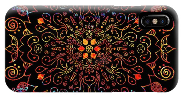 Colorful Mandala With Black IPhone Case