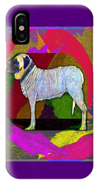 iPhone Case - Colorful Mastiff by Michelle Audas