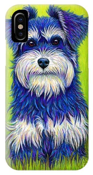 Colorful Miniature Schnauzer Dog IPhone Case