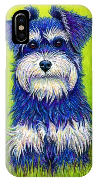 Colorful Miniature Schnauzer Dog IPhone Case