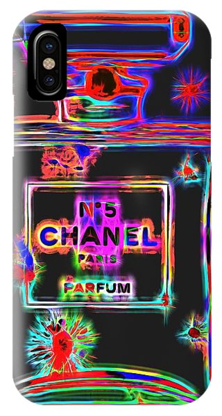 Dive iPhone Case - Colorful Neon Chanel Five  by Dan Sproul