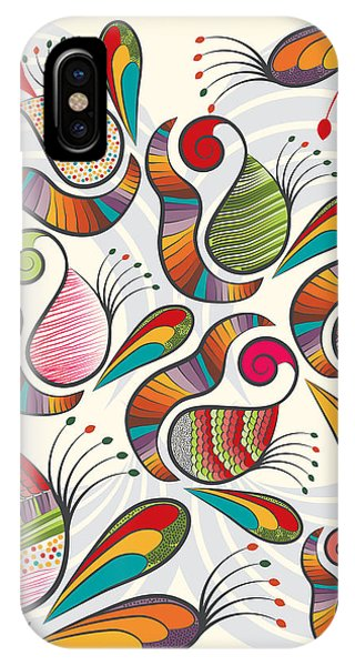 Colorful Paisley Pattern IPhone Case