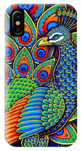 Colorful Paisley Peacock IPhone Case