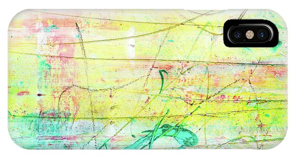Colorful Pastel Art - Mixed Media Abstract Painting IPhone Case